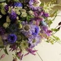 Blue and purples summer bouquet
